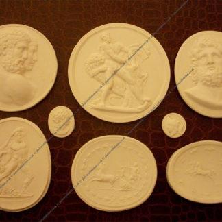 14 Grand Tour Intaglios Medallions Coins Tasses European Classic Cameos Italy